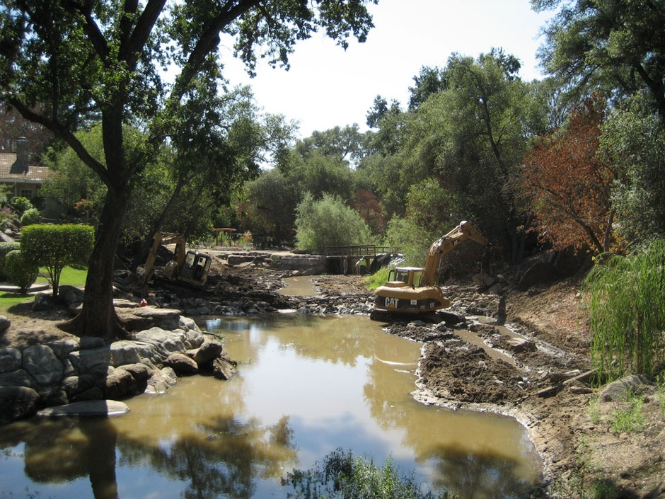full restoration of large creek