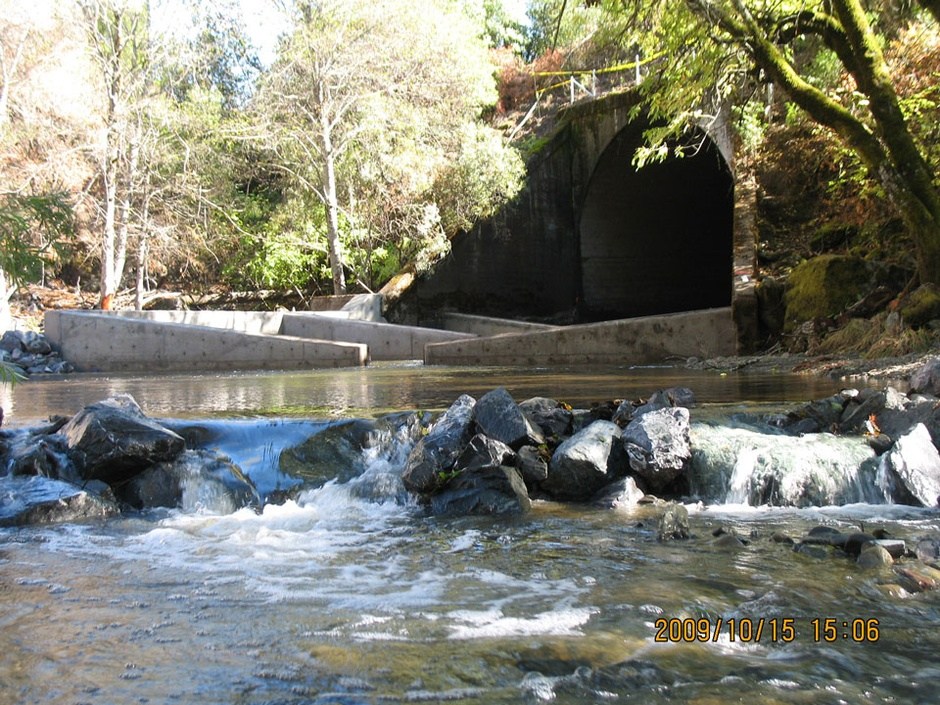 restoring creek with concrete walls